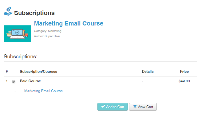 course subscription