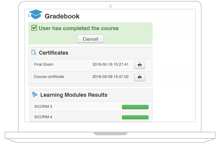 joomlalms gradebook