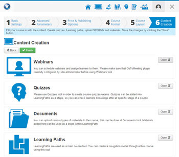 LMS course builder